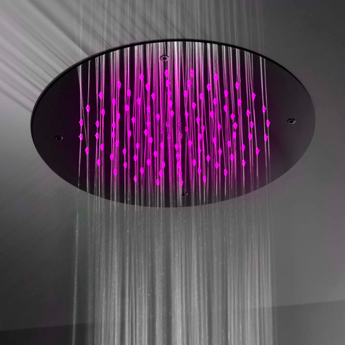 Gattoni PD Душевая лейка круглая диаметр 380мм с системой скрытого монтажа на потолке (без хромотерапии), цвет хром