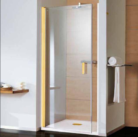 SAMO FDT Душевая дверь в нишу 76,5-80х190см, проф. золото, прозрачное стекло c покрытием StCl, ручка золото