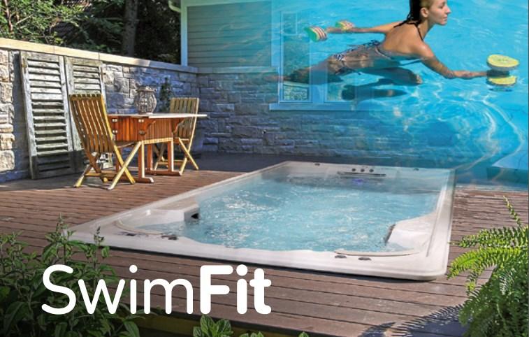 Jacuzzi SwimFit14 Бассейн 442*236*134H см. включая каркас, панели, управление потоком для плавания, 2 жестких чехла,  цвет: белый