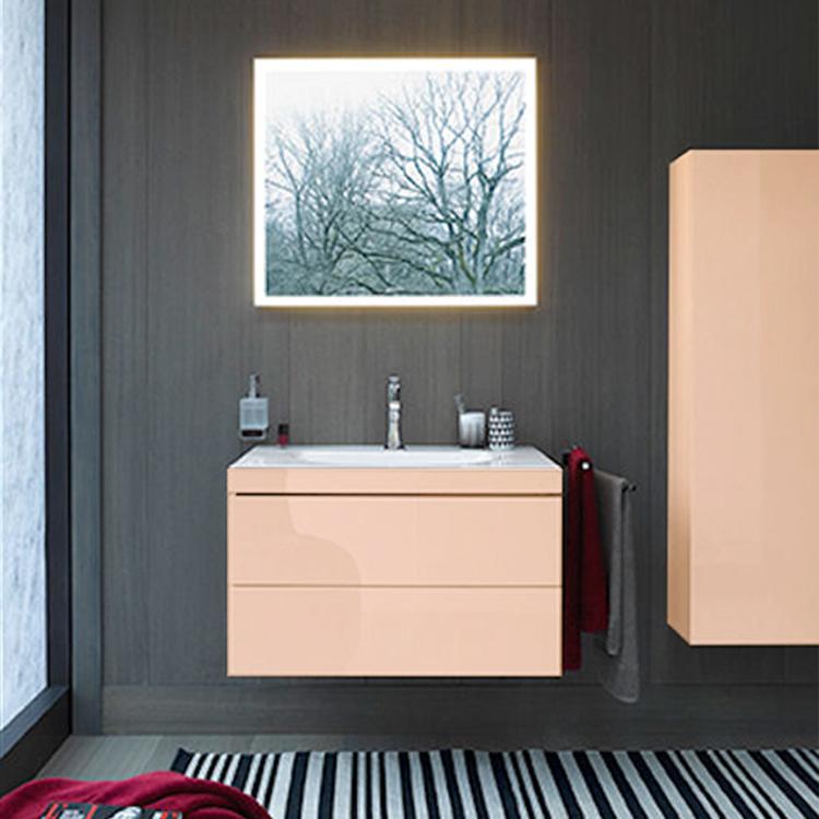 DURAVIT L-Cube Комплект мебели,   Тумба C-bonded раковина белая с фронтом, 80см цвет: абрикос жемчужный