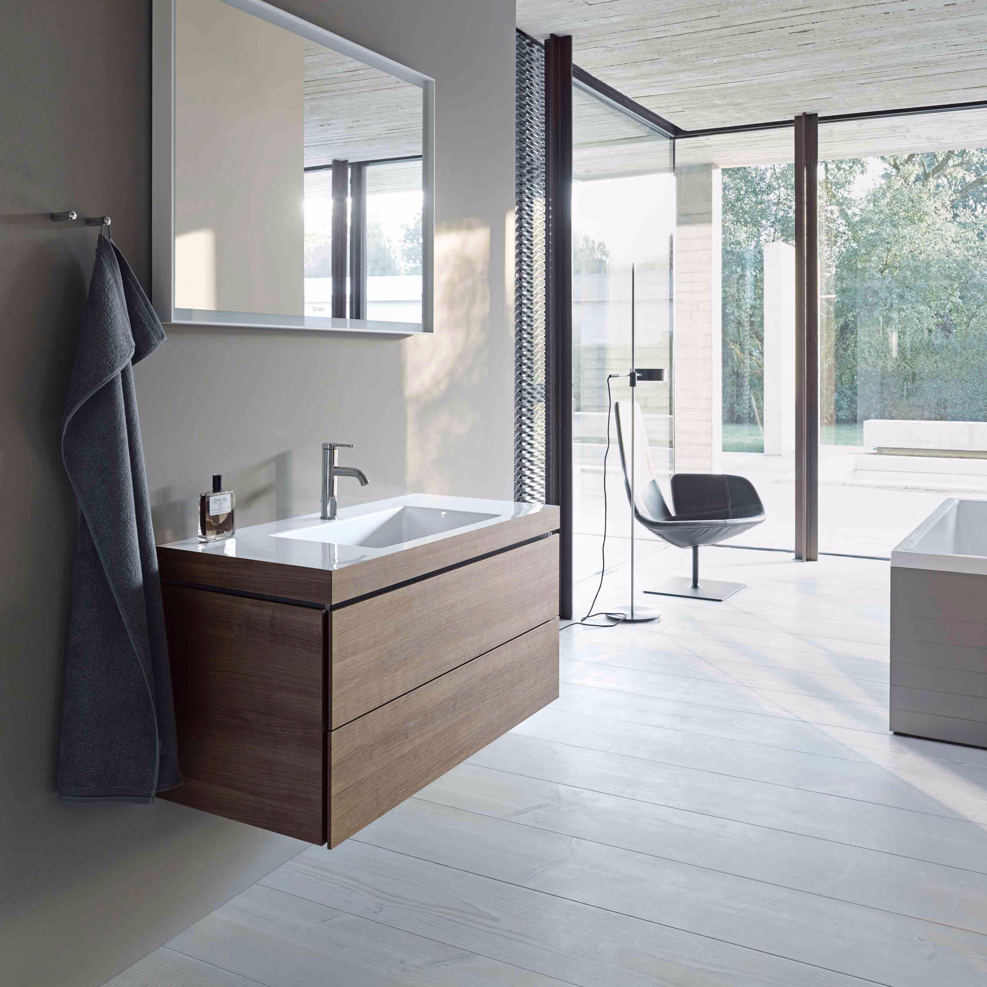 DURAVIT L-Cube комплект мебели, Тумба C-bonded, раковина  с фронтом, 50см, цвет: Американский орех