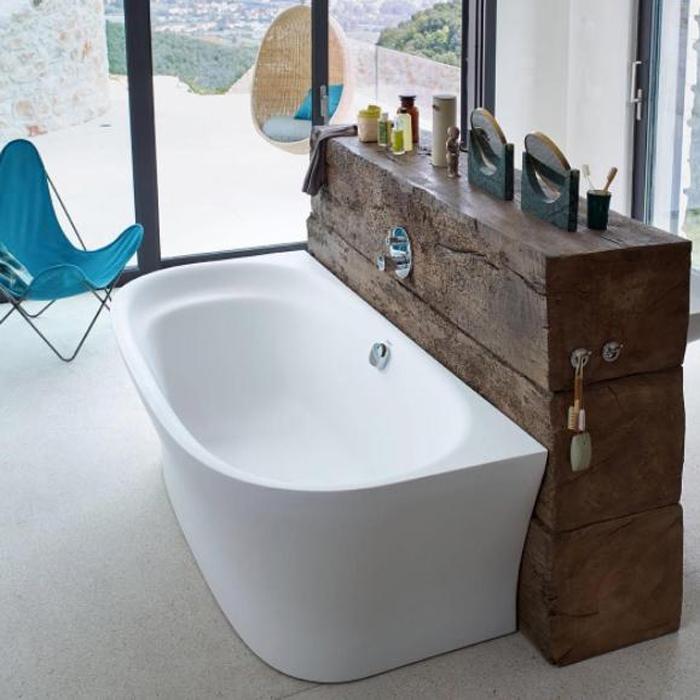 Duravit Cape Cod Ванна пристенный вариант, 1900x900mm с бесшовной панелью и ножками, с одним наклоном для спины,