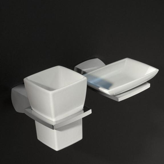 Bertocci Grace Стакан керамический, подвесной, цвет: белый
