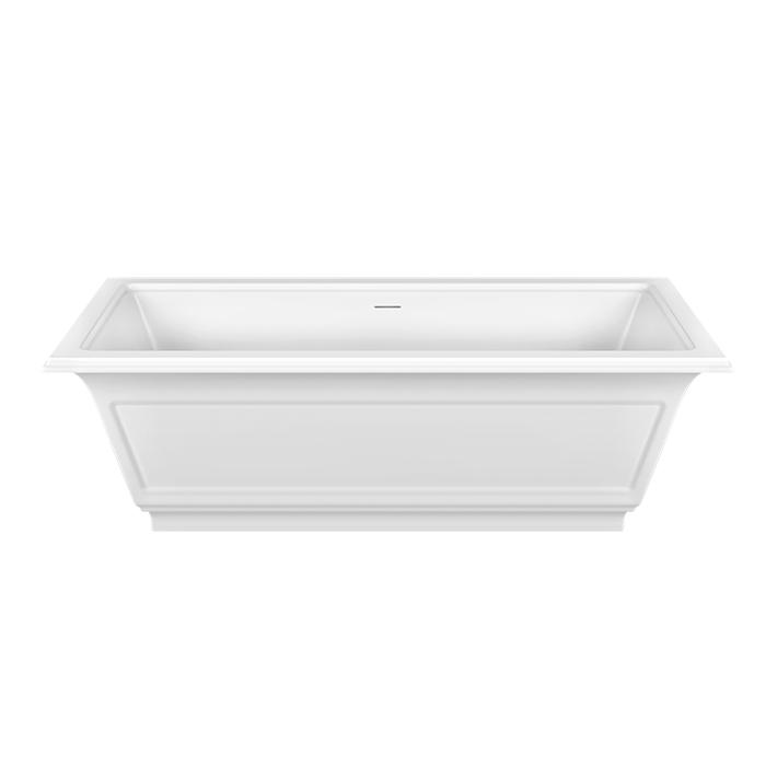 Gessi Eleganza Ванна 180х85см, со сливом-переливом, цвет: матовый белый
