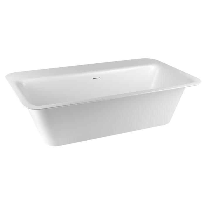 Gessi Rettangolo Ванна отдельностоящая/встраиваемая 180х95см, цвет: матовый белый