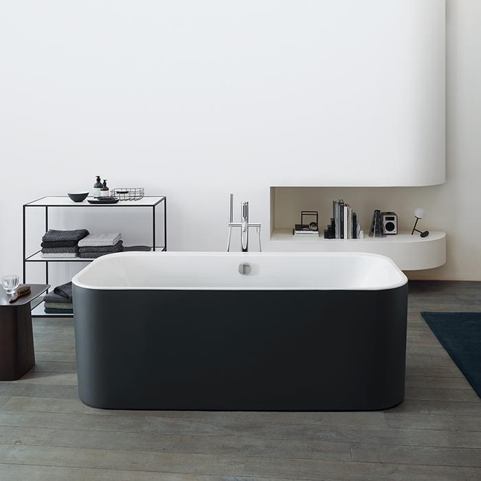 Duravit Happy D.2 Plus Ванна акриловая 1800х800мм, отдельностоящая, бесшовная панель, слив-перелив, цвет: graphite supermatt