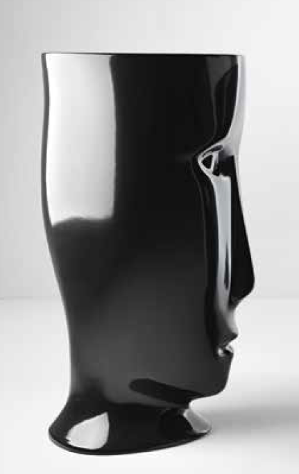 """Kerasan Artwork Раковина свободностоящая """"MOLOCO"""", с отверстием для слива в пол, цвет черный глянцевый"""