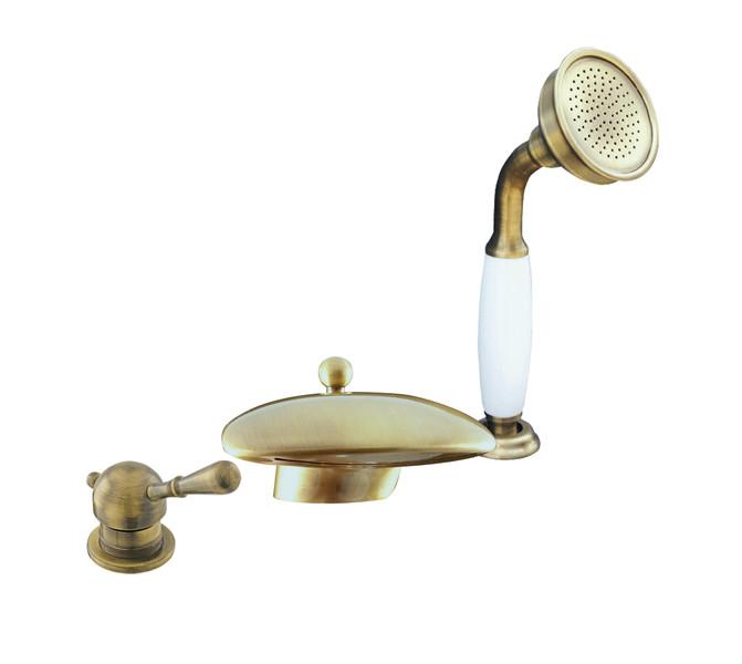 Смеситель RAV Slezаk ЛАБЭ для ванной, на 3 отверстия, бронзовый
