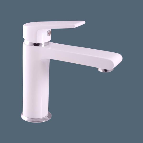 Смеситель RAV Slezаk COLORADO  для раковины, высота 162 мм ,белый/хром