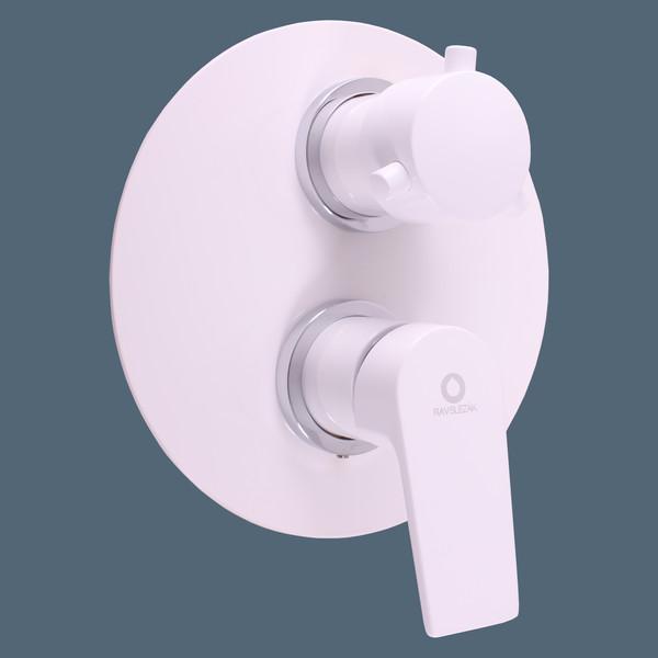 Смеситель скрытого монтажа для ванны и душа Rav-Slezak Colorado CO186KBC, белый/хром