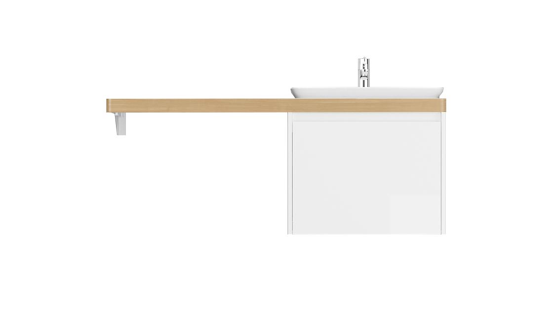Столешница Klaufs 120*60 вырез тип 12, врезн. раковина справа Invisible Line, шатанэ