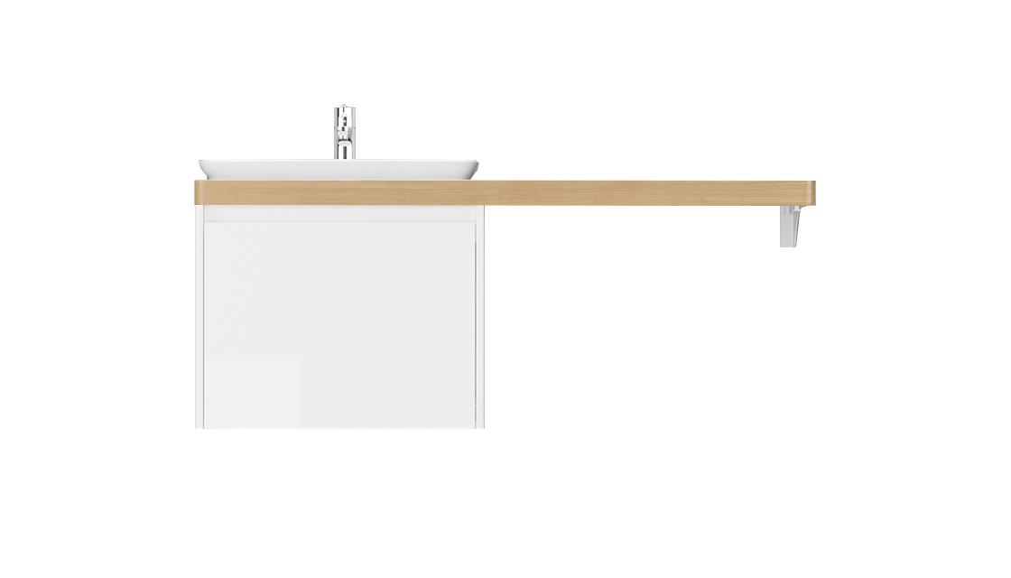 Столешница Klaufs 120*60 вырез тип 13, врезн. раковина слева Invisible Line, шатанэ