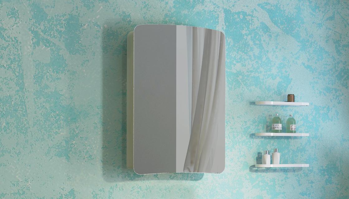 Зеркало-шкаф Iva 60 Светлый лен