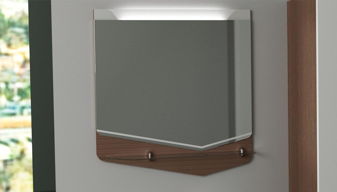 Зеркало Cub 70 Темный лен