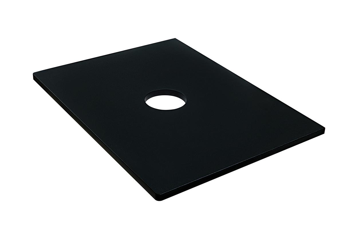 Столешница Klaufs 60 вырез тип 1, накл. раковина центр, МДФ, черная