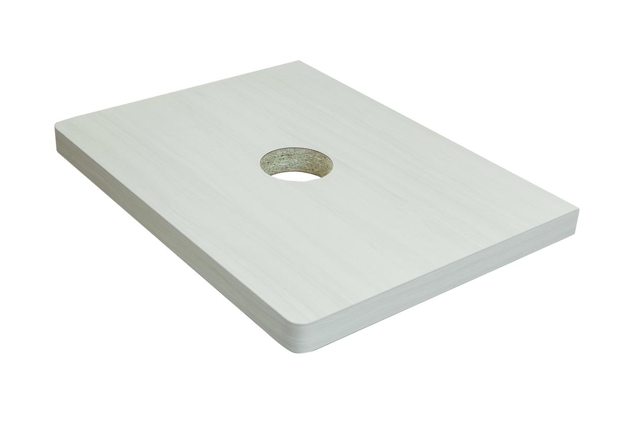 Столешница Klaufs 60 вырез тип 1, накл. раковина центр, Invisible Line,кипарис белый