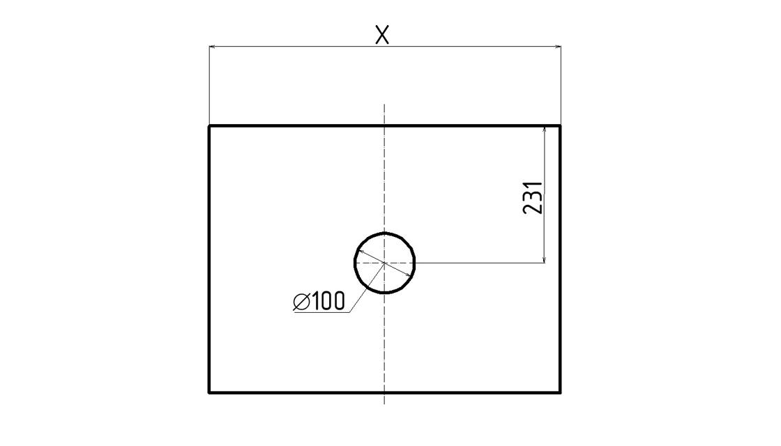 Столешница Klaufs 80 вырез тип 1, накл. раковина центр, Invisible Line, кипарис белый
