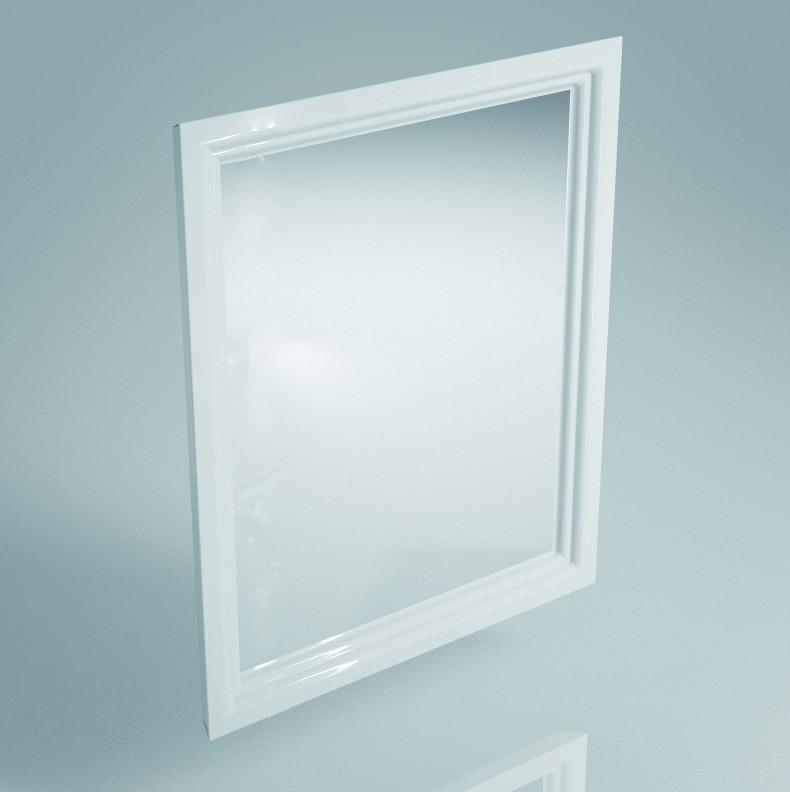 Зеркало POMPEI 60 см, белое