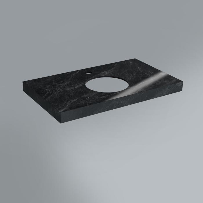 столешница из плитки 80х48 риальто серый темный лаппатированный