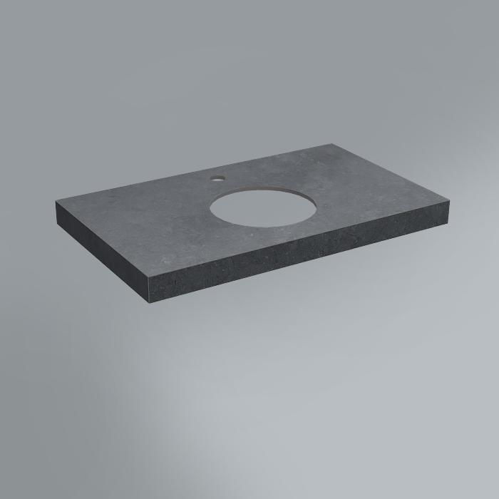 Спец. Изделие декоративное столешница из плитки 80х48 Роверелла серый темный
