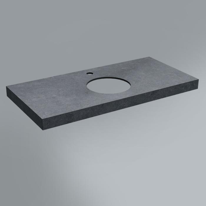 Спец. Изделие декоративное столешница из плитки 100х48 Роверелла серый темный