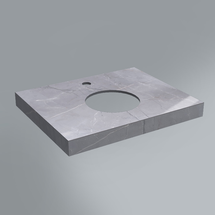 Спец. Изделие декоративное столешница из плитки 60х48 Риальто серый лаппаированный