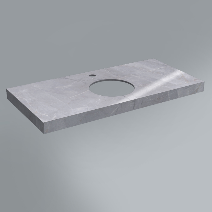 Спец. Изделие декоративное столешница из плитки 100х48 Риальто серый лаппаированный