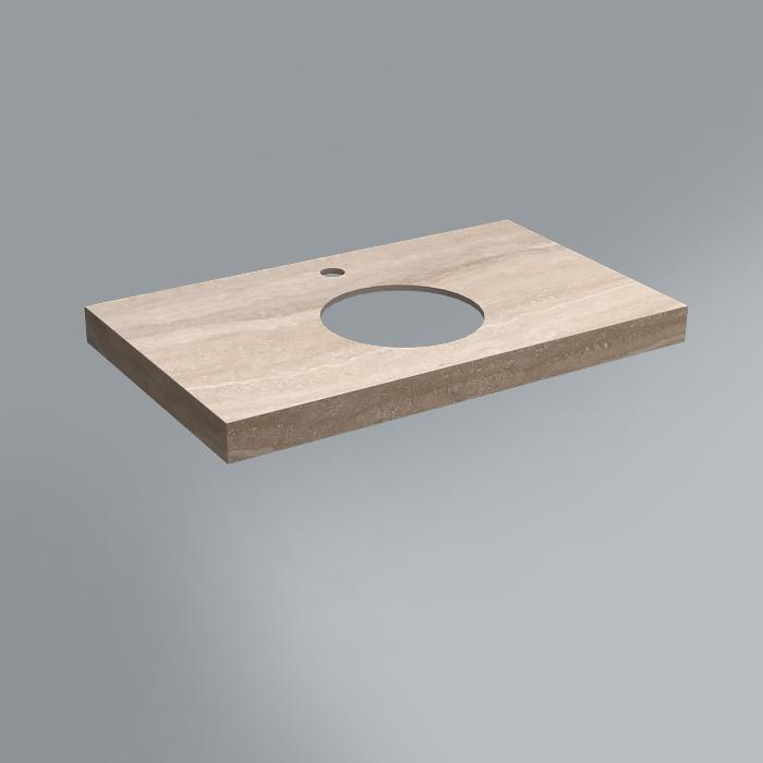 Спец. Изделие декоративное столешница из плитки 80х48 Риальто песочный натуральный