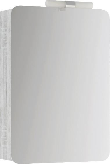 Аликанте шкаф-зеркало со светильником, цвет дуб седой, Alic.04.05/Gray,