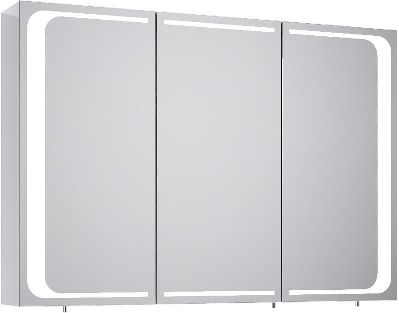 Милан шкаф-зеркало с подсветкой, цвет белый Mil.04.10,