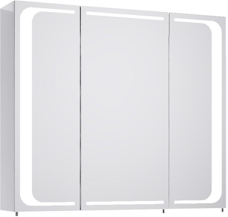 Милан шкаф-зеркало с подсветкой, цвет белый Mil.04.08,