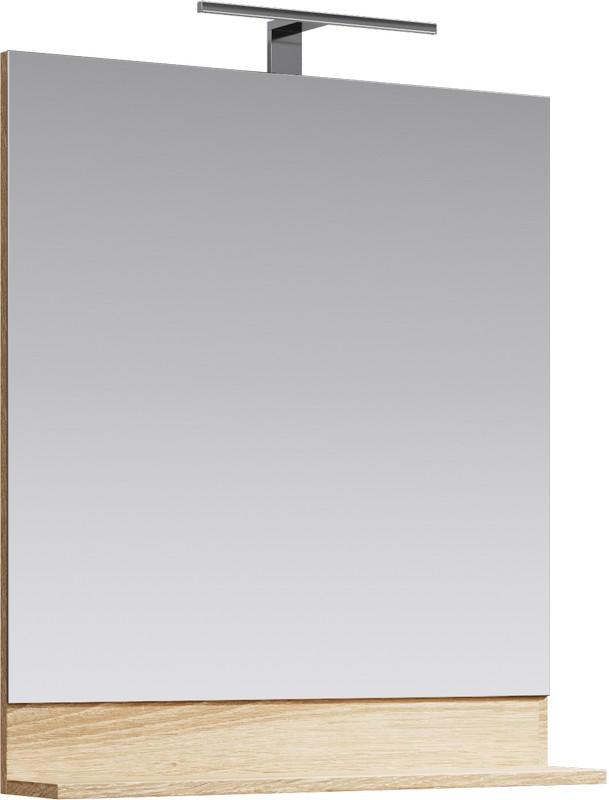 Фостер Панель с зеркалом и светильником, цвет дуб сонома