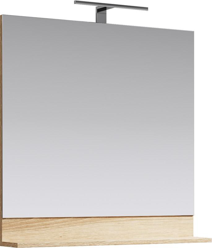 Фостер Панель с зеркалом и светильником, цвет дуб сонома, FOS0208DS