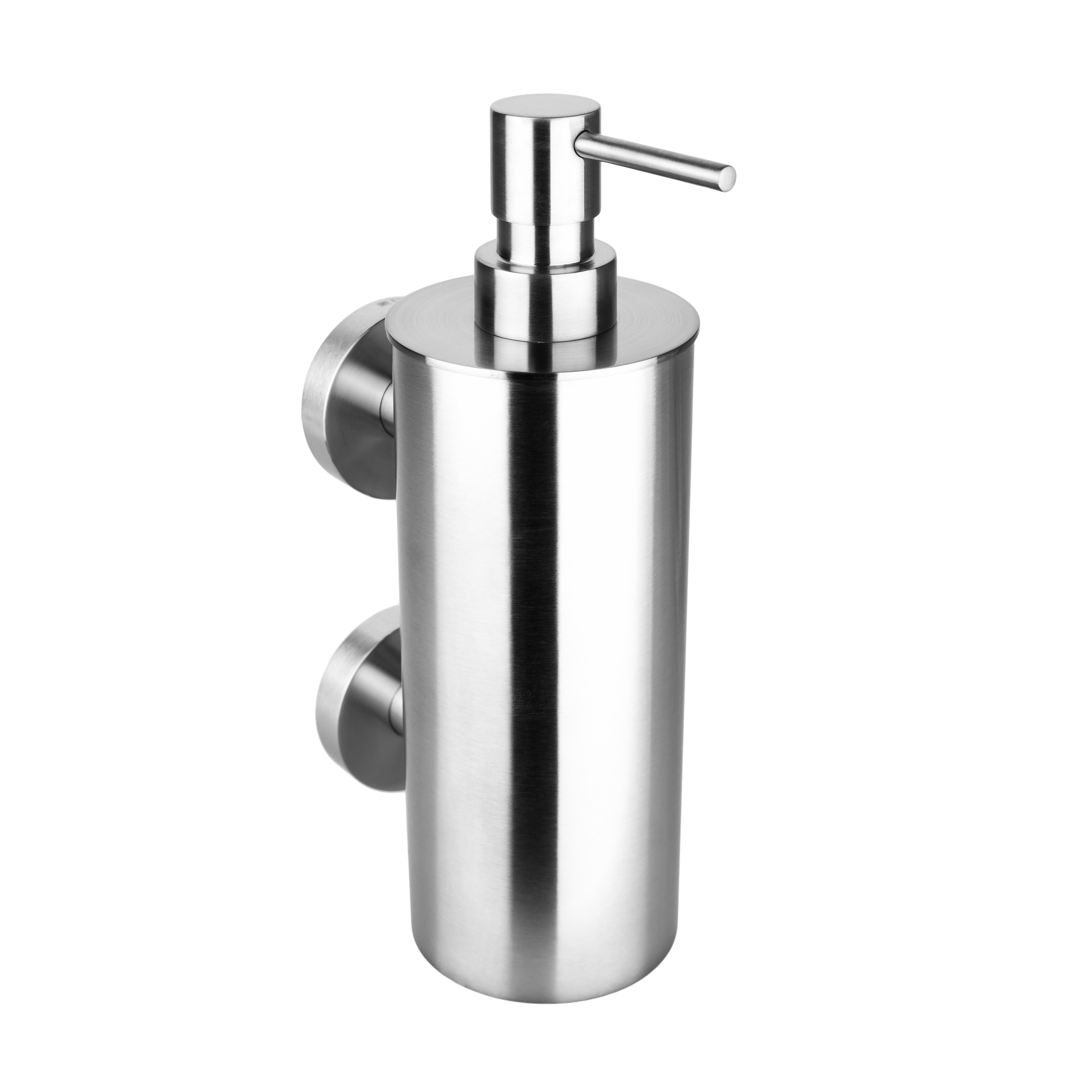 Настенный дозатор для жидкого мыла (большой металлический стакан), 2 держателя