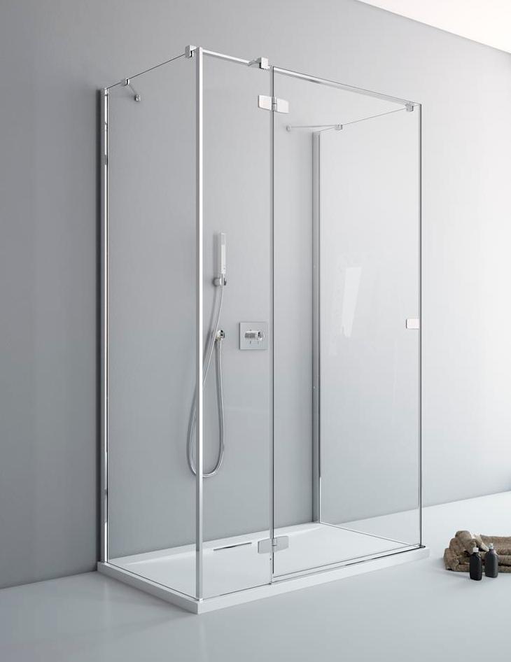 Дверь для душевого уголка Radaway Fuenta New KDJ+S 12 левая , профиль хром , стекло прозрачное