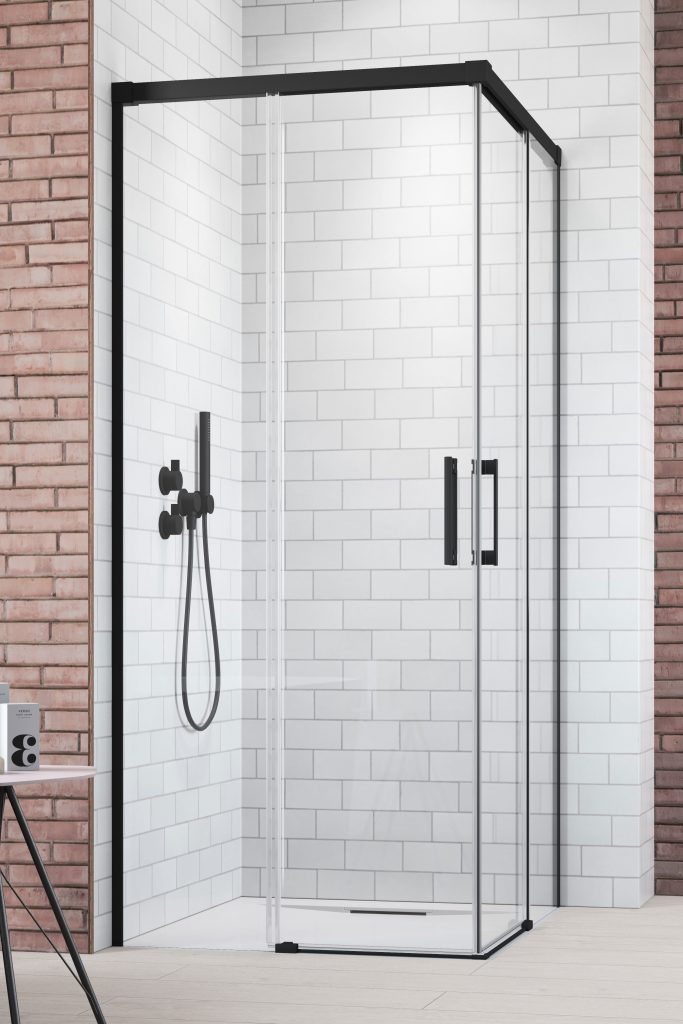 Дверь для душевого уголка Radaway Idea Black KDD 110 левая , профиль чёрный , стекло прозрачное