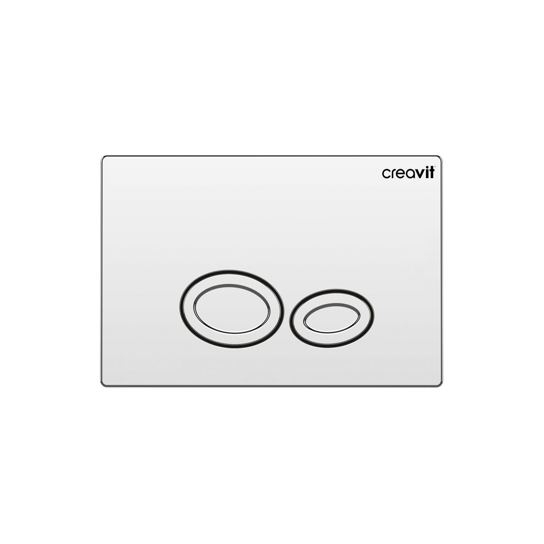 CREAVIT Кнопка для инсталляции DROP хром глянец