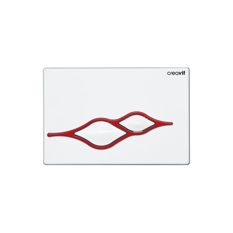 CREAVIT Кнопка для инсталляции UFO бело-красная