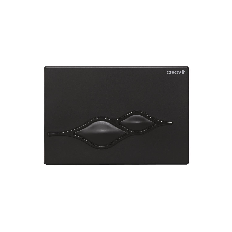 CREAVIT Кнопка для инсталляции UFO черная глянец