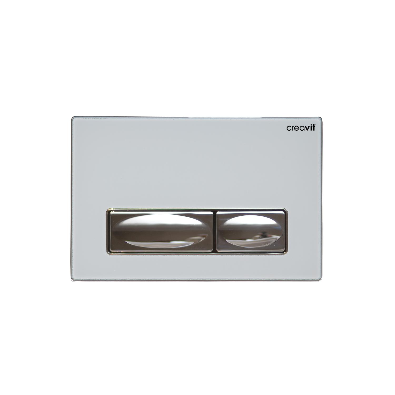 CREAVIT Кнопка для инсталляции белая стекло