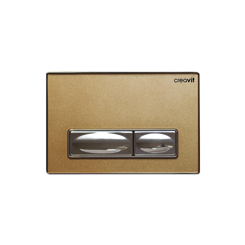 CREAVIT Кнопка для инсталляции золото стекло