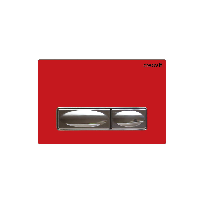 CREAVIT Кнопка для инсталляции красная стекло
