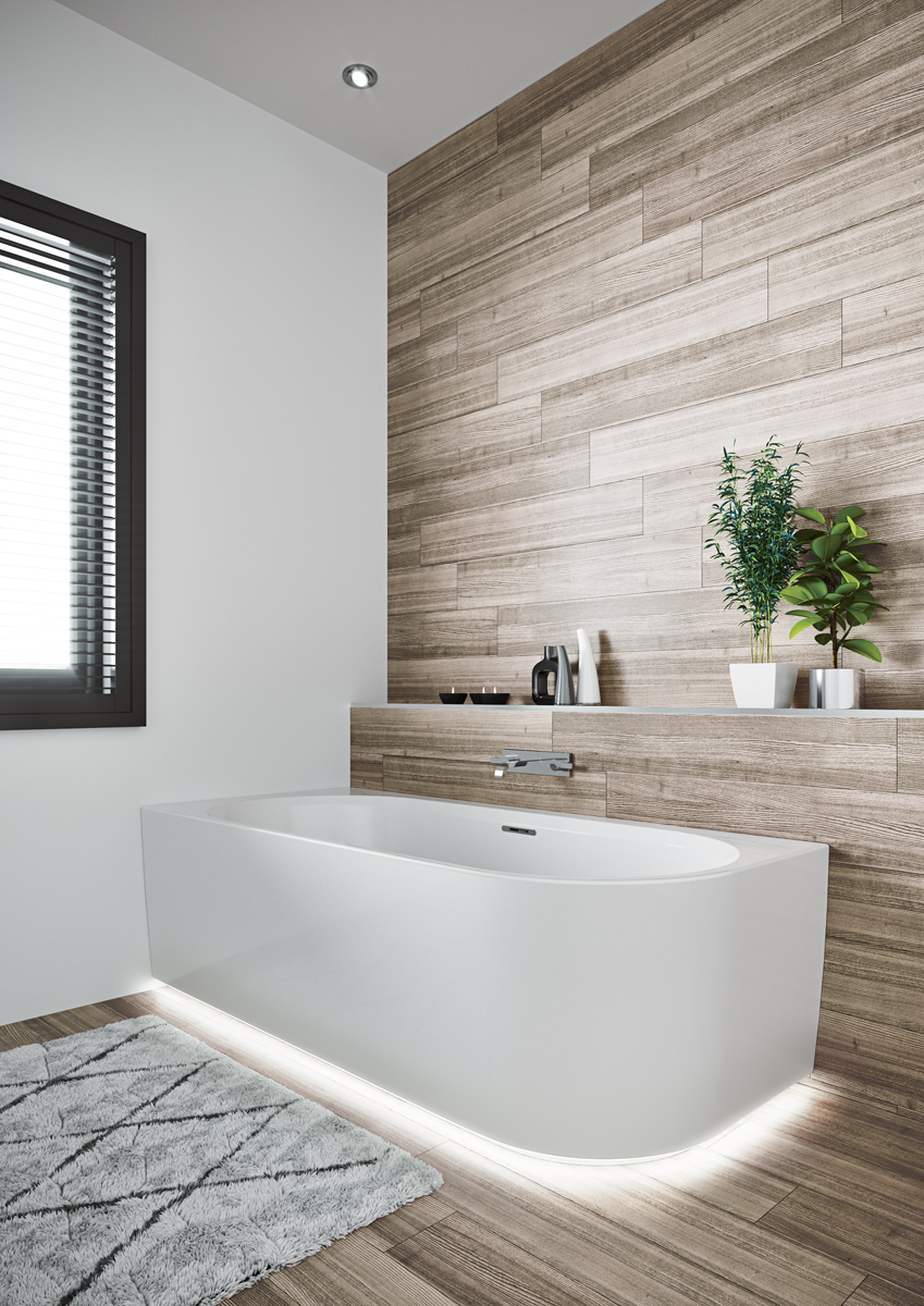 Прямоугольная ванна Riho Desire Corner LED L 184x84 без гидромассажа BD0600500K00133
