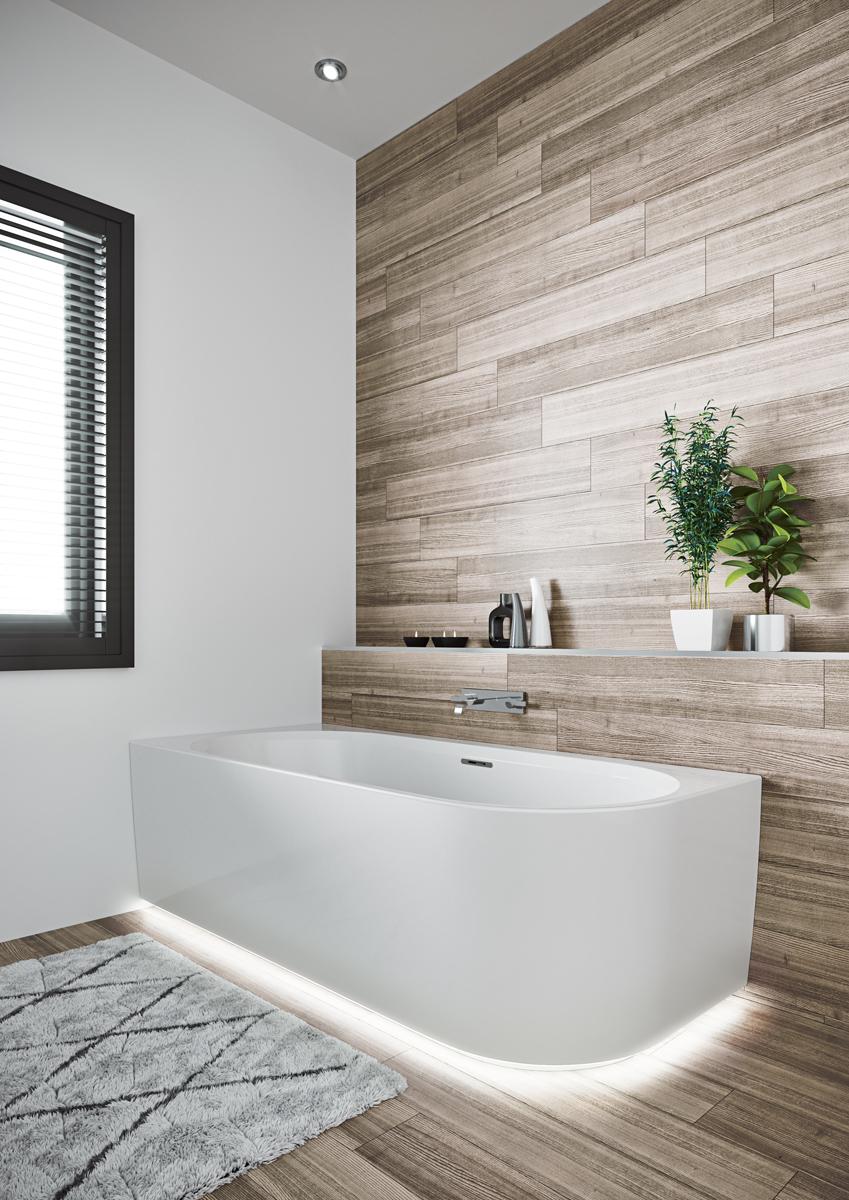 Овальная ванна Riho Desire LED R 184x84 белая BD0500500K00133