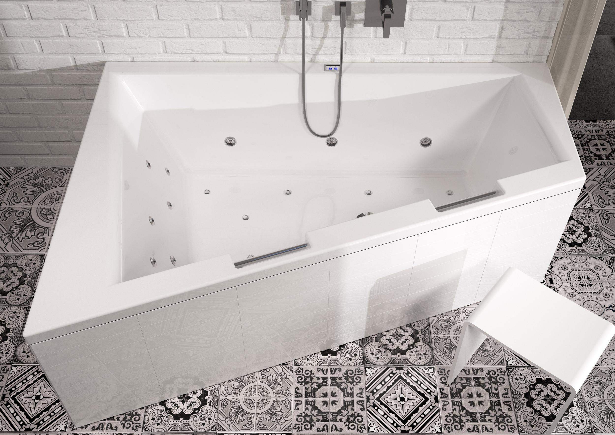 Асимметричная ванна Riho Doppio 180x130 R без гидромассажа BA9000500000000