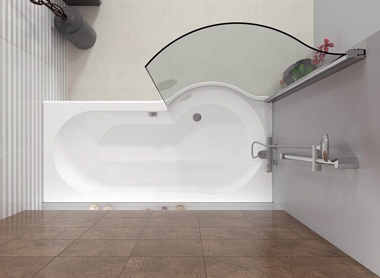 Асимметричная ванна Riho Dorado 170x75/90 R без гидромассажа BA8000500000000