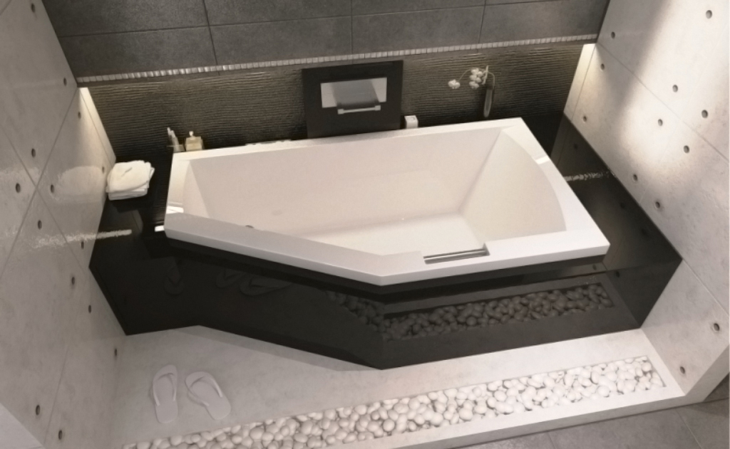 Асимметричная ванна Riho Geta 160x90 L левая без гидромассажа BA8700500000000