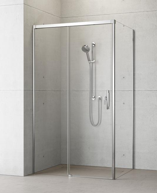 Душевая дверь для уголка Radaway Idea KDJ 160 левая , профиль хром, стекло прозрачное