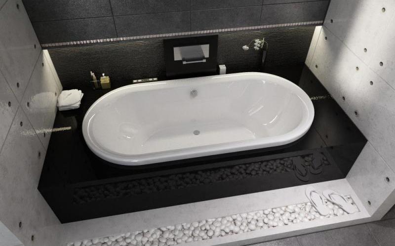 Овальная ванна Riho Seth 180x86 без гидромассажа BB2200500000000