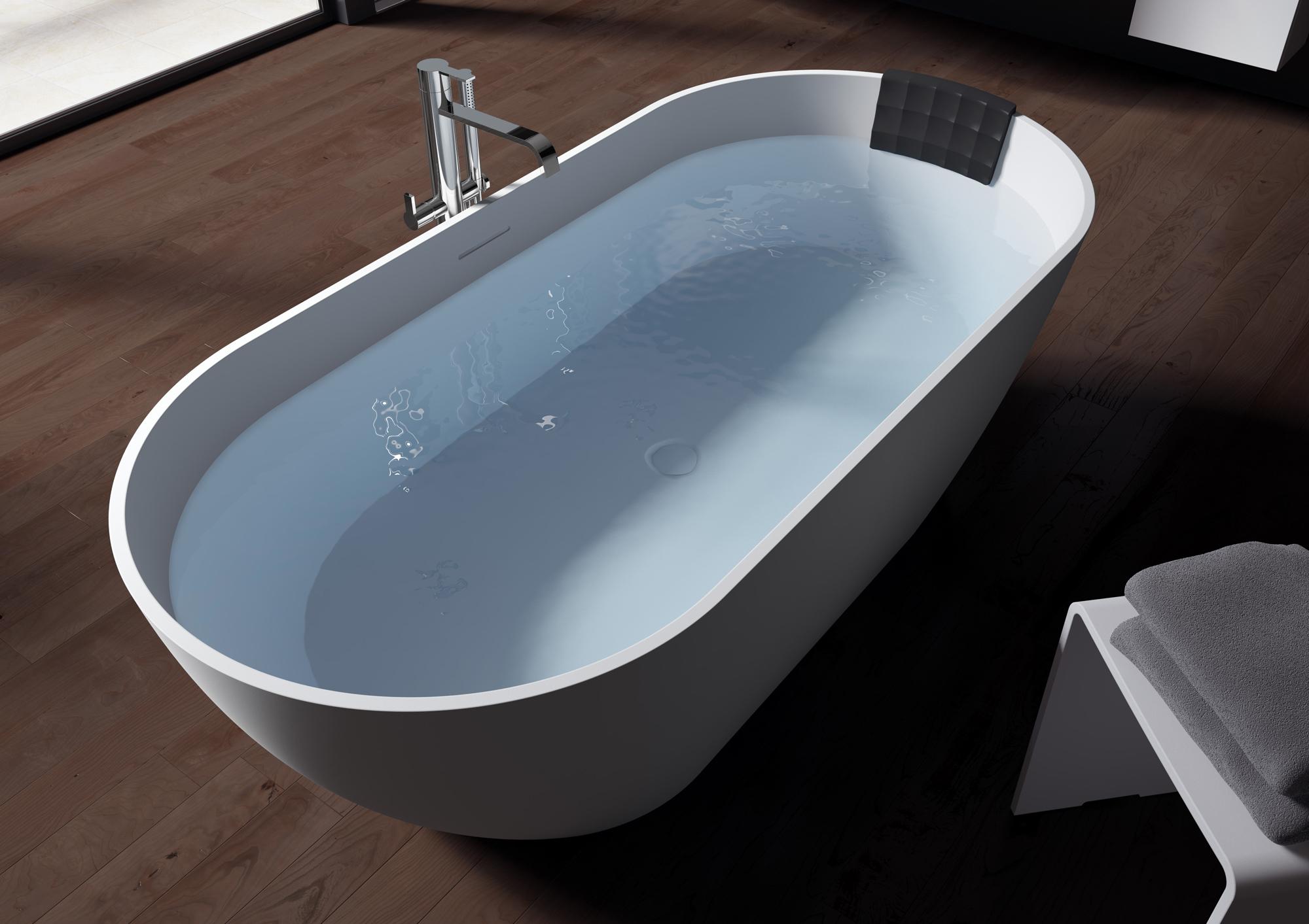 Овальная ванна из искусственного камня Riho Bilbao 150x75 белая BS1200500000000